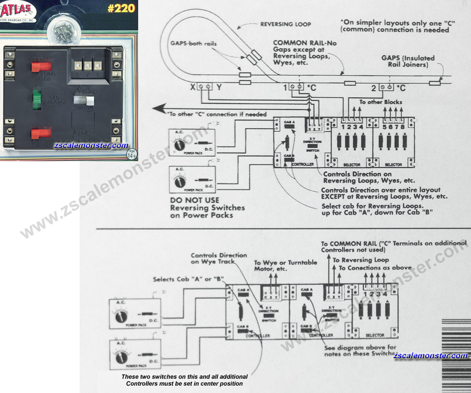 atlas selector switch wiring diagram 220 wire data schema u2022 rh estilomagico co HO Railroad Wiring Diagrams Atlas Block Controller Wiring Diagram
