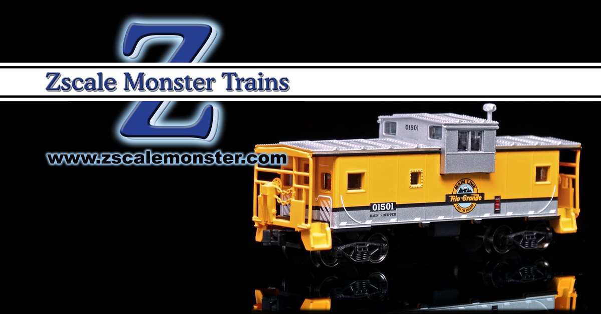 AZL Bay Window Caboose - Zscale Monster Trains